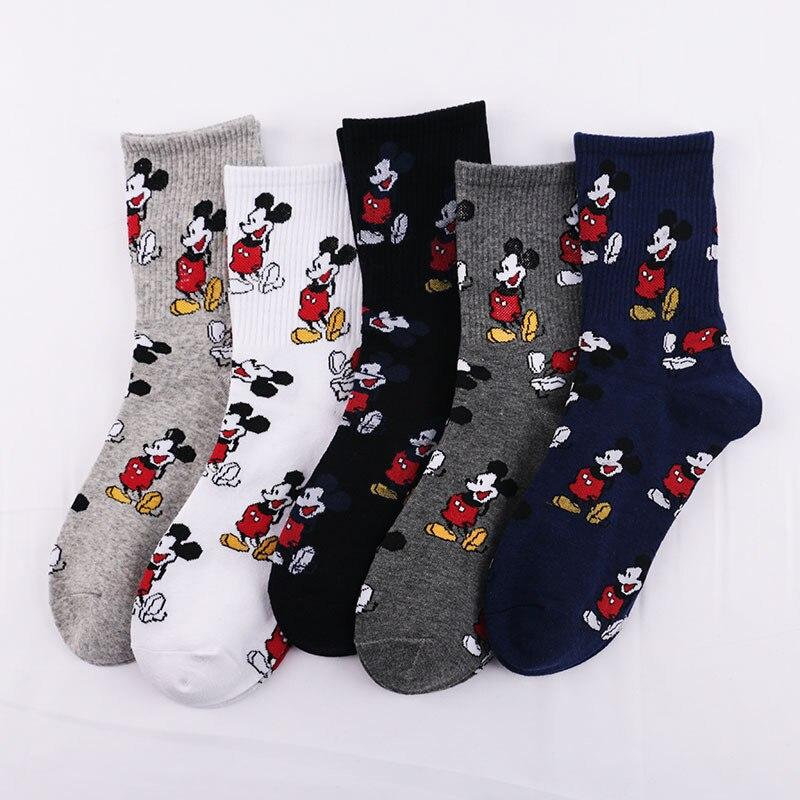 Casual Men's High Quality Cotton Socks Cute Mickey Minnie Duck Socks Cartoon Socks Men Breathable Comfortable Sports Men's Socks