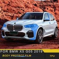For BMW X5 G05 2019 Car Body Door Handle Bowl Head Light TPU Protective Film Cover Trim Sticker Interior Accessories