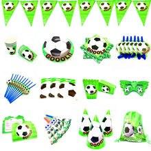 Futebol de futebol festa de aniversário decoração tema de futebol descartável utensílios de mesa festa de aniversário decoração crianças menino festa de futebol