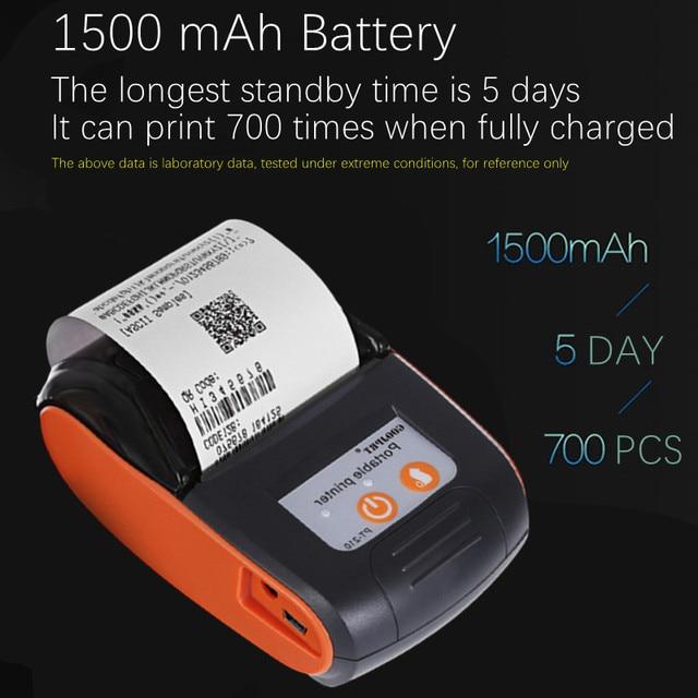 58mm Bluetooth Pocket Portable Thermal Receipt Printer Mini Wireless Notes Phone Printer Android IOS PC Free APP Bill Impresoras 2