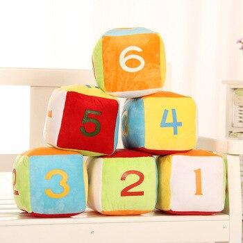 Simanfei kości poduszki pluszowe kwadratowe kwadratowa zabawka lalki dla dzieci prezent urodzinowy dla dzieci dekoracji pokoju miękka poduszka podróży rzuć poszewka na poduszkę