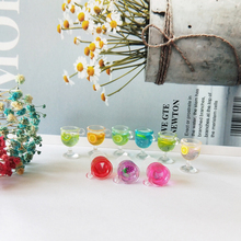 10pcs/lot Resin Goblet Cocktail Charms Pendants Fruits Wine Cup Drink Fit DIY Earrings Jewelry Accessory Handmade YZ609