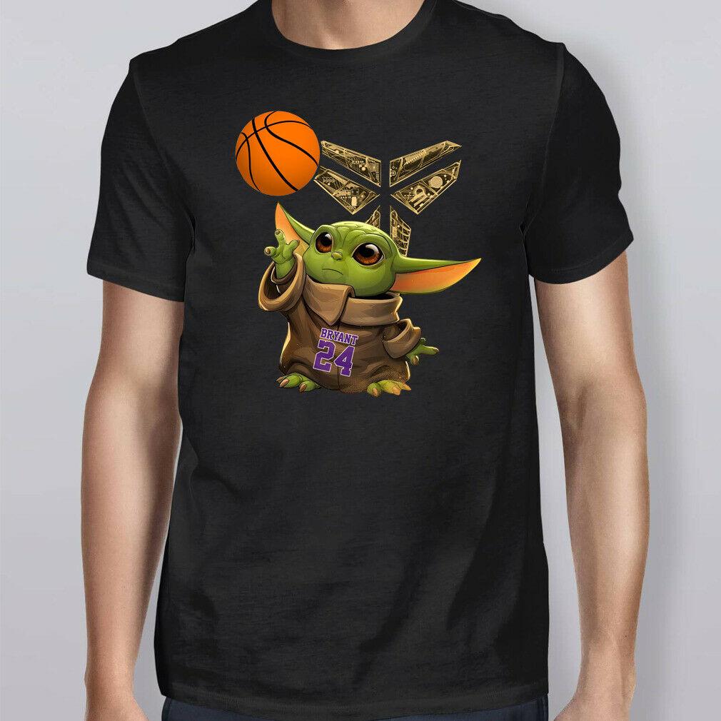 Fashion Bryant Baby Yoda Black Mamba Basketball Shirt Size S-5xl T Shirts Hipster Round Neck Short-Sleeve Gift
