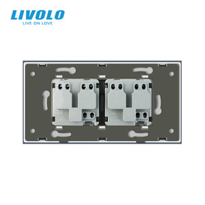 Image 4 - LIVOLO priseคู่อิสราเอลPower 16A Outlet,กระจกนิรภัยสีขาว/แผงกระจกสีดำ,AC 100 ~ 250V,Siamesedออกแบบ,ไม่มีโลโก้