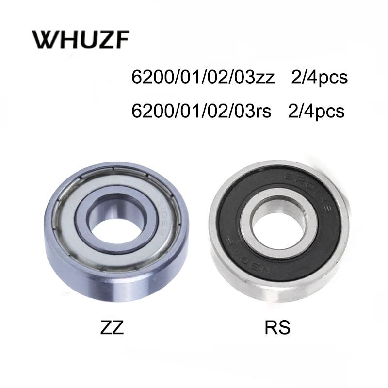 2/4PCS Deep Groove Ball Bearings 6200Z 6201RS 6202zz 6203rs 6204 6205 6206 6207 6208 ZZ 2RS