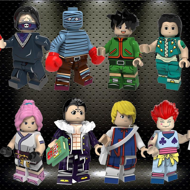 Ly HUNTER X HUNTER Figure Gon Freecss Machi Kulolo FEI Bonolenov Kurapika Hisoka Illumi Building Blocks Toys PG8170