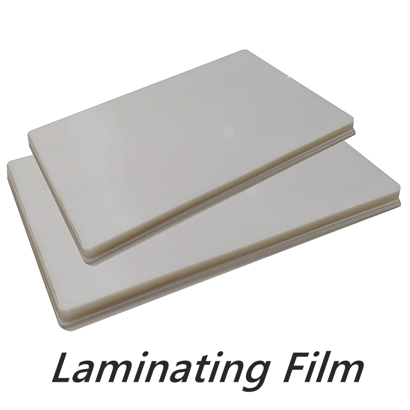 50 mikron A3 ve A4 termal laminasyon filmi PET fotoğraf/dosya/kartı/resim PVC şeffaf parlak 2 flap laminasyon filmi plastik Film