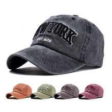 Baseball-Cap Women Snapback-Hat Embroidery Letter Washed Fishing Outdoor Cotton Hip-Hop-Cap