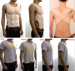 Newly Fake  Hunk Chest Muscle Man Silicone Fake Chest Muscle Pecloralis Muscle Cosplay Artificial Birthday Giftd