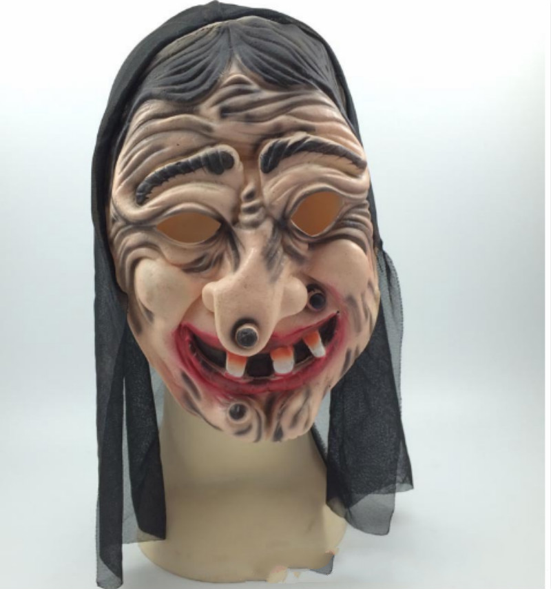 Halloween Masquerade Performances Funny Witch <font><b>Terror</b></font> Demon Grimace Mask Festival Halloween Masks New image