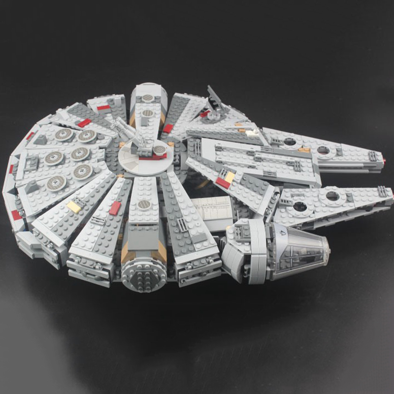 Locking star wars Millennium SpaceShip Set Action Figures Han Solo s Bricks Building Blocks Toys For Children starwars LockingsBlocks   -