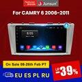 Junsun V1 Android 10 ИИ Голосовое управление 4G DSP автомобильное Радио мультимедийный плеер видео для Тойота Камри 6 40 50 2006-2011 GPS магнитола for Toyota Camry No 2 ...