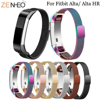 Fashion Metal High Quality Replacement Strap Wrist Band Belt for Fitbit Alta HR Bracelet HR Monitor Smart Watch Accessories 11 colors silicone watchband high quality replacement wrist band silicon strap clasp for fitbit alta hr smart wristband watch