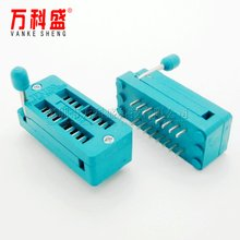 Factory direct sale high quality 16P locking IC socket test socket narrow body IC socket hot sale(China)