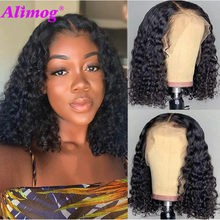 Deep Wave Short Bob Wigs For Black Women Peruvian Bob Lace Wigs Pre Plucked Deep Curly Human Hair Wigs Miss Cara Hair Wigs