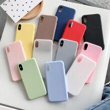 Candy Color Case for Samsung Galaxy S6 S7 Edge S8 S9 Plus S10E J2 pro 2018 Note 5 9 10 A5 2017 A520 A510 Fashion Silicone Cover
