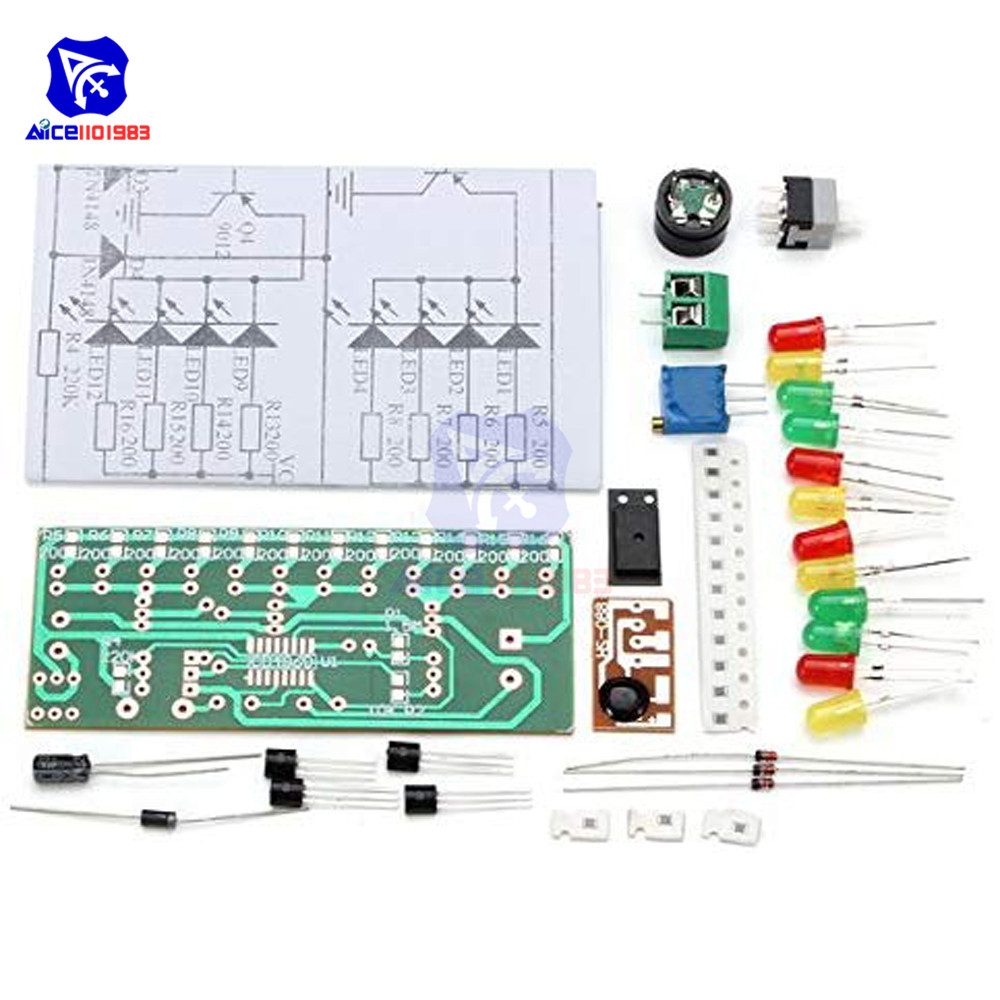 Diymore CD4060 SMD Music LED Light DIY Kit Electronic Component Experimental Teaching Module