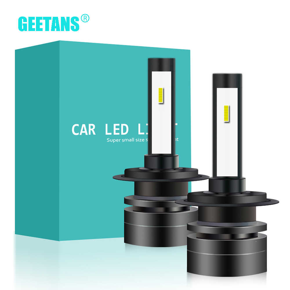 GEETANS  2Pcs H4 LED H7 H11 H8 9006 HB3 H3 H1 HB4 CSP Auto Car Headlight  High Low Beam Bulb Super Mini Automobile Lamp 12V CG