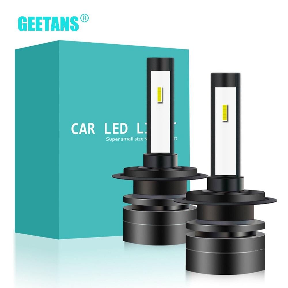 GEETANS  2Pcs H4 LED H7 H11 H8 9006 HB3 H3 H1 HB4 CSP Auto Car Headlight  High Low Beam Bulb Super Mini Automobile Lamp 12V CG
