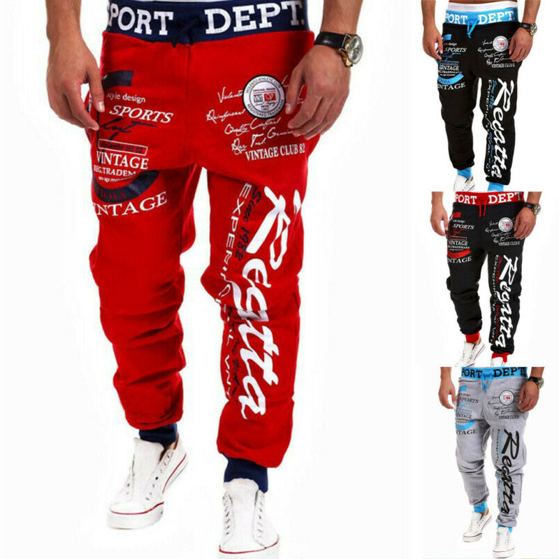 Men Jogger Tracksuit Pants Sport Gym Skinny Jogging Casual Baggy Trousers Sportwear Sweatpants Hip Hop Streatwear Men Jogger