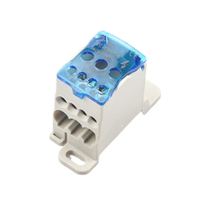 Connector Terminal-Block Rail-Distribution-Box Electric-Wire Power Block-One Multiple-Out