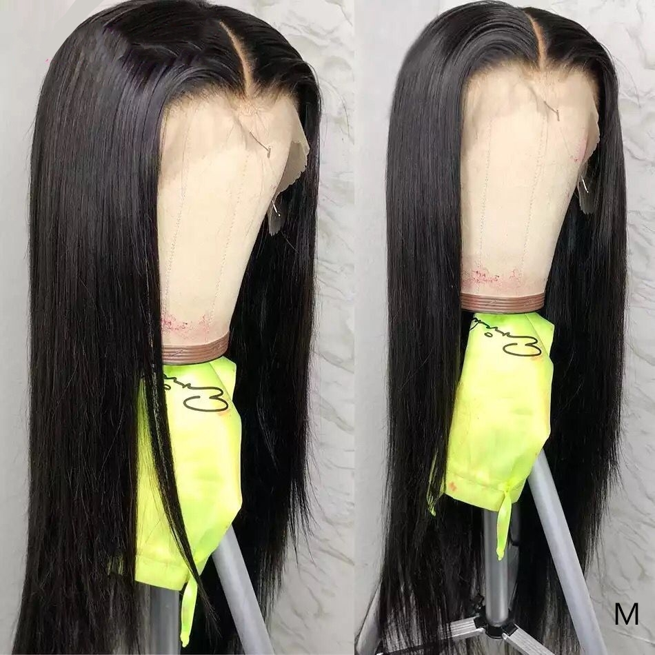 13X4 Lace Front Wigs Pre Plucked With Baby Hair 150 Density Natural Color Remy Malaysian Straight Lace Front Human Hair Wigs Pakistan