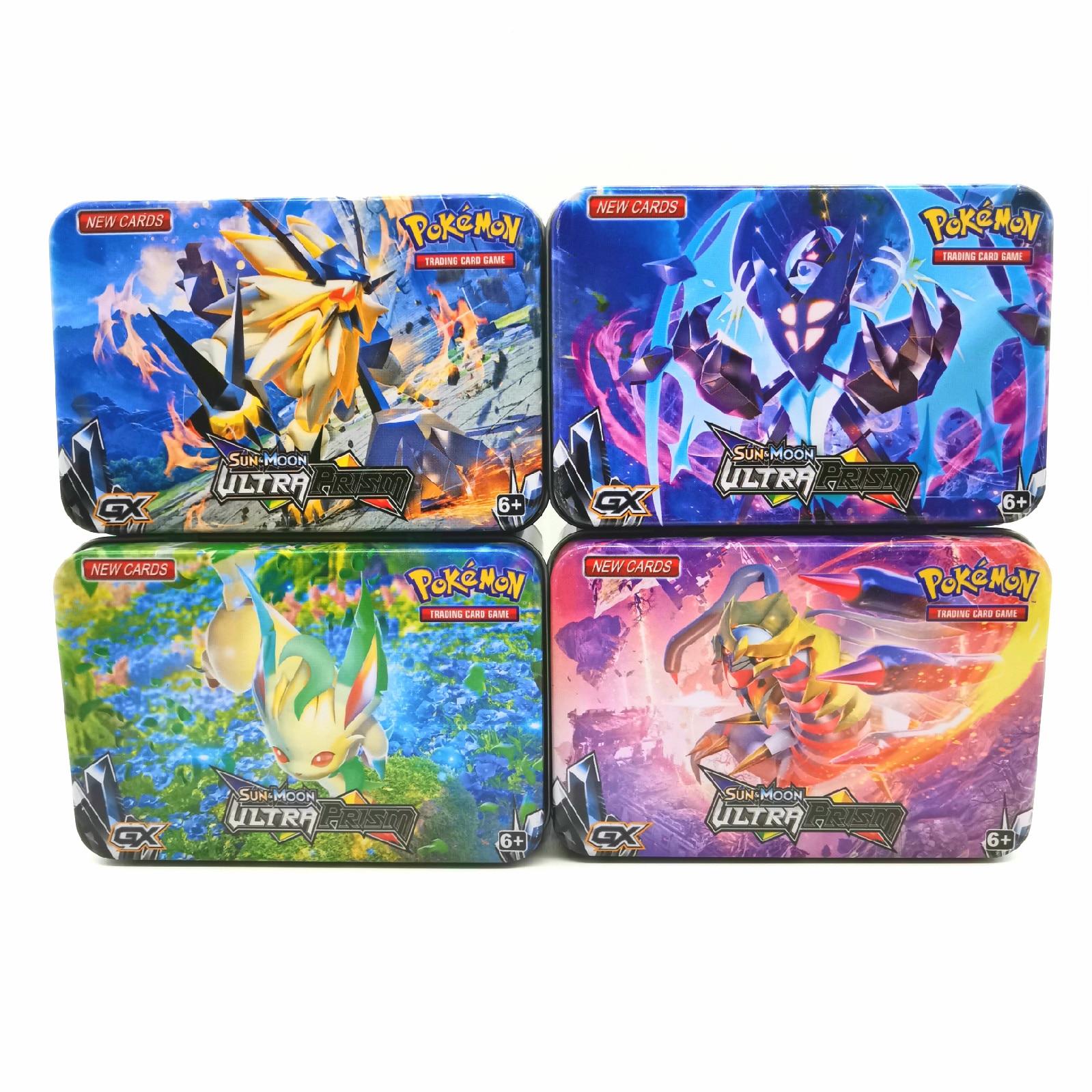 42 pièces/ensemble fer boîte Pokemon TAKARA TOMY bataille jouets loisirs passe-temps objets de Collection jeu Collection Anime cartes pour enfants