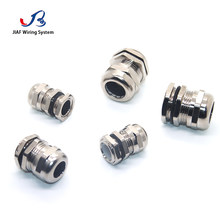 Metal Cable Gland 1pcs PG9 For 4-8mm Waterproof Joint Nickel Plated Brass IP67 Seal Jiont Use For LED lamp And Waterproof Box