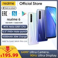 realme 6 4GB RAM 128GB ROM Mobile Phone Helio G90T 30W Flash