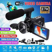 2.7K Camcorder Video Camera Wifi Night Vision 30MP 3.0 Inch LCD Screen Time-laps