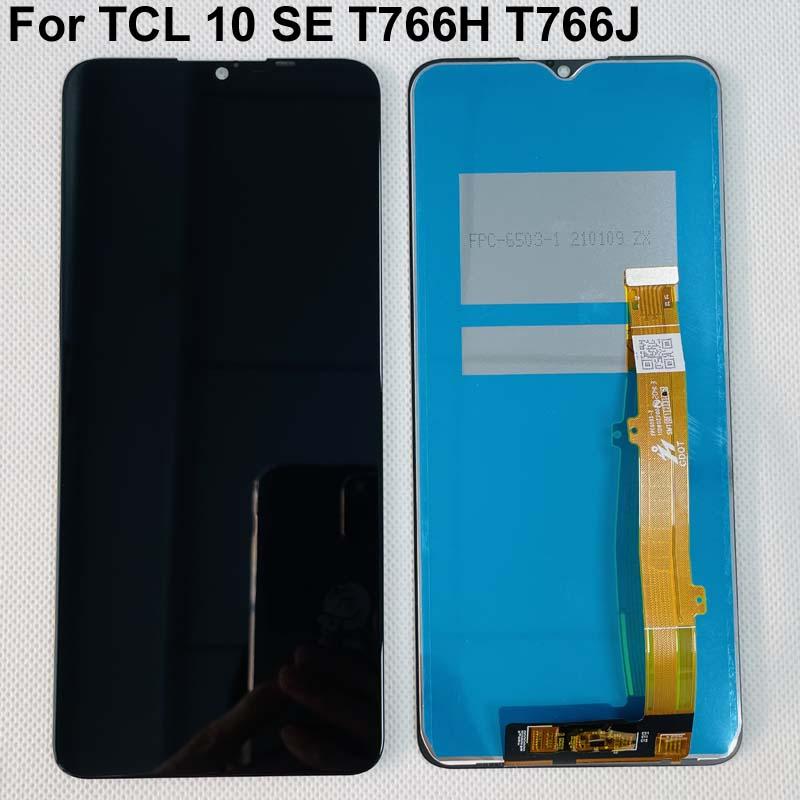Оригинальный чехол для TCL 10 SE T766H T766J T766U ЖК-дисплей Дисплей + кодирующий преобразователь сенсорного экрана в сборе черный Цвет