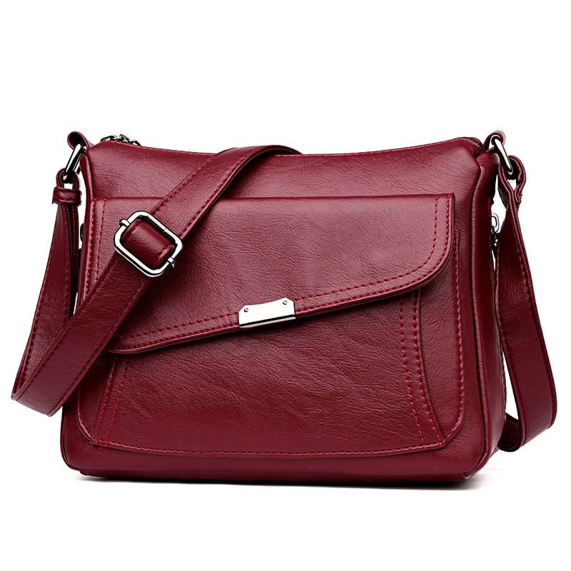 Summer Style 2020 Bolsas Soft Leather Luxury Handbags Women Bags Designer Multi-pocket Crossbody Shoulder Bags For Women Sac