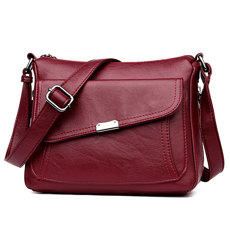 Winter Style 2019 Bolsas Soft Leather Luxury Handbags Women Bags Designer Multi-pocket Crossbody Shoulder Bags For Women Sac