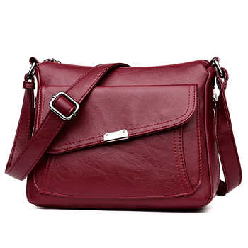Winter Style 2019 Bolsas Soft Leather Luxury handbags Women bags Designer Multi-pocket Crossbody Shoulder Bags For Women Sac - DISCOUNT ITEM  42% OFF All Category