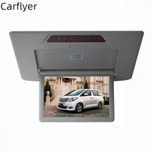 For Toyota Alphard 12.1'' HD High Resolution Car Roof Mount Monitor Overhead Car Ceiling Wide Drop Down LCD Display connect dvd(China)