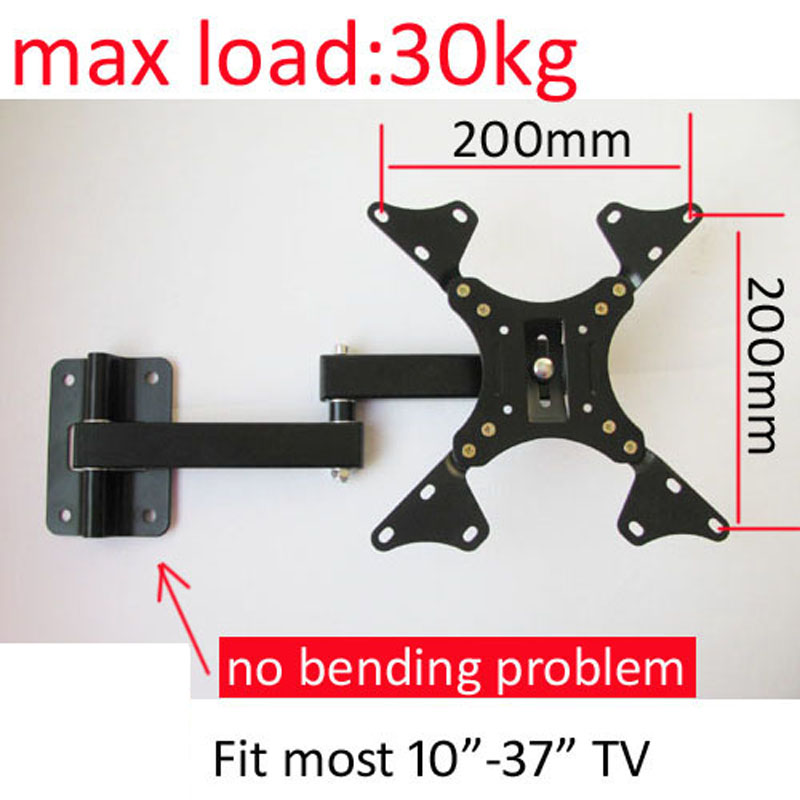 LCD-122AD 10 Inch 24in 30inch 37inch Tiltable Swivel LCD LED PLASMA Tv Wall Bracket Wall Mount Swing Arms