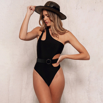 New One Piece Solid Swimsuit Bodysuits Women Summer Sexy Hollow Out Swimming Bathing Suits Ladies Beachwear  Female Biquinis D30 one piece baths women s swimsuits swimsuit sport women maios for beach 2018 new sexy ladies solid polyester sierra surfer