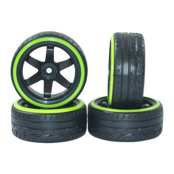 1/10 RC Car Drift Tire Wheel Rim for HSP HPI Racing 12mm Hex PP0290/069 of 4Pcs RC Car Wheel Tire For 1/10
