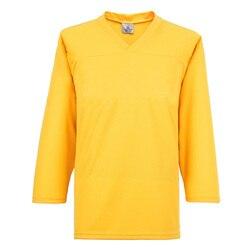 Meilunna Color sólido entrenamiento práctica Hockey sobre hielo Jerseys amarillo 0001 tamaño YS--3XL