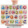 3D Puzzles Baby Early Educational Toy Wooden Learning Toys for Kids Alphabet Animal Fruit Transportation Vegetables Shape Toys
