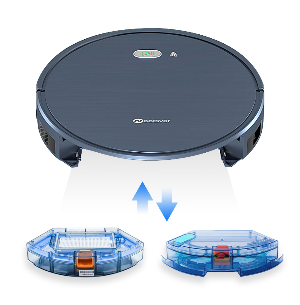H741a903523bb464291dc5b811a495ec2C NEATSVOR X500 Robot Vacuum Cleaner 1800PA Poweful Suction 3in1 pet hair home dry wet mopping cleaning robot Auto Charge vacuum