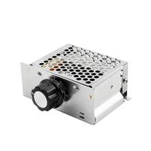 4000 Вт 220 В AC SCR регулятор напряжения диммер электронный двигатель скорость Электрический 220 В вольт регулятор диммер Термостат Регулятор SCR