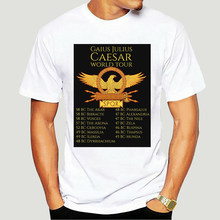 Brand Julius Caesar World Tour Spqr T-Shirt Men Short Sleeve T-Shirt-4244D(China)