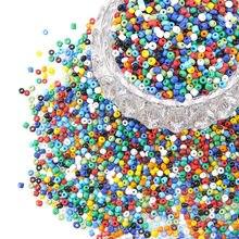 Über 495 stücke/50g 6/0 Opaque Farben Runde Glas Rocailles 4mm für Schmuck Machen DIY Armband halskette Zubehör loch: 1,5mm