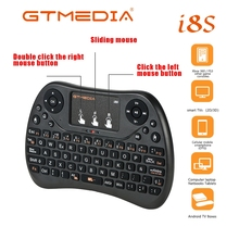 GTMEDIA I8S Keyboard No Backlit Mini English Wireless 2.4ghz USB Keyboard Touchpad for Android Laptop Smart TV Air Mouse
