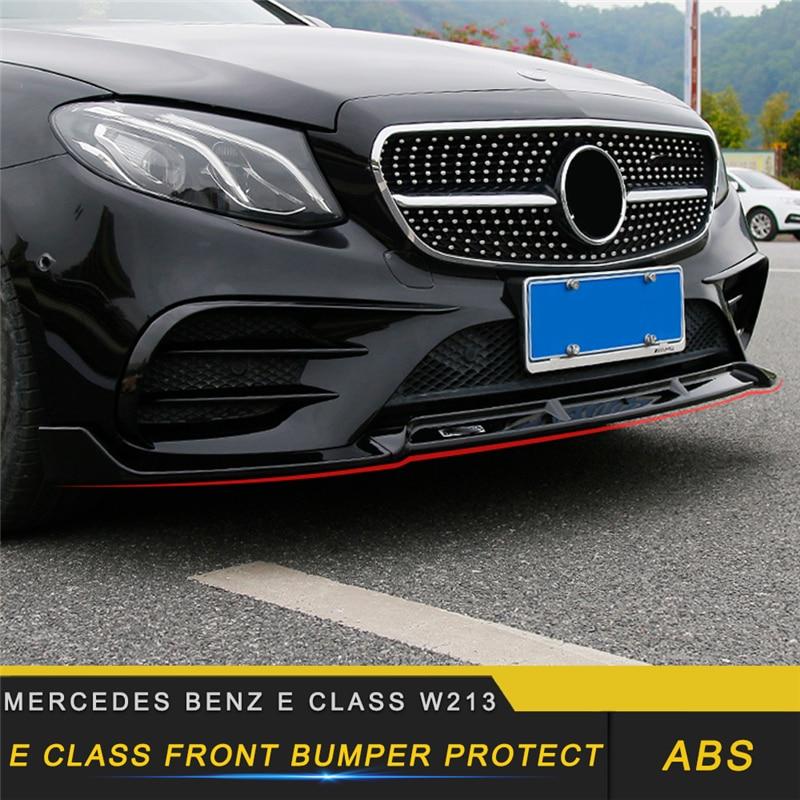 Combo W211 E55 Mercedes Benz Matte Black Painted Front lip Spoiler+Rear Diffuser