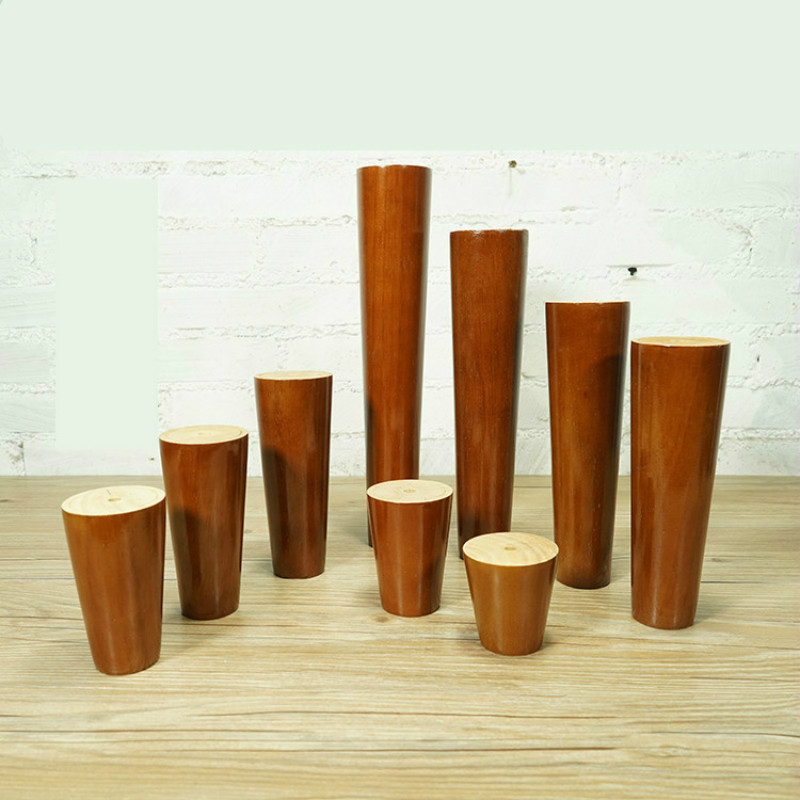 Rubber Feet 4pcs/lot Furniture Legs Patas Para Mueble Cabinet Table Legs Solid Wood Sofa Feet Coffee End Table Pied De Meuble