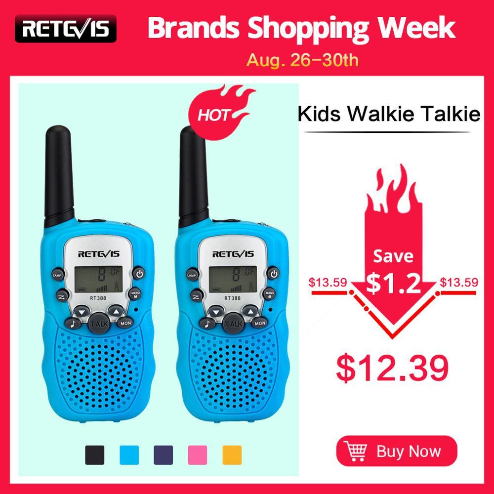 Retevis Walkie-Talkie Radio-Station UHF PMR RT388 PMR446 Portable FRS 2pcs Mini A7027