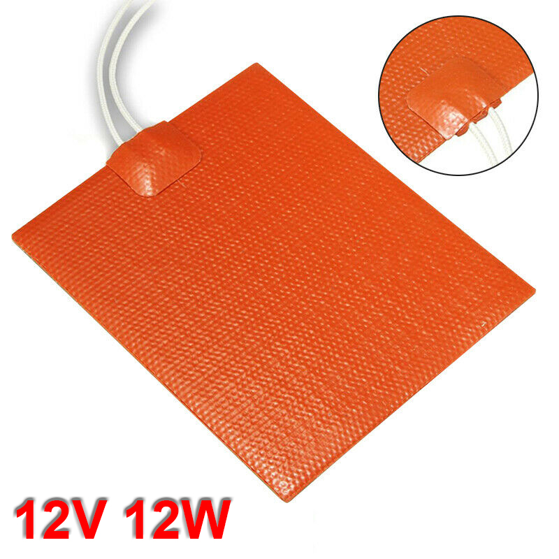 12V 12W Silicone Heater Pad For Printer Heated Bed Heating Mat 60degree Celsius