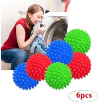 6 pçs 10 pçs colorido secador de roupa lavar bolas roupas reutilizáveis secagem fluffing tecido amaciante bolas para casa máquina lavar roupa